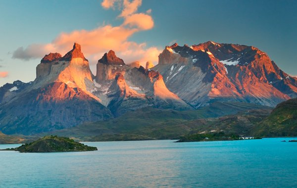 South America Chile Torres Del Paine Sunset