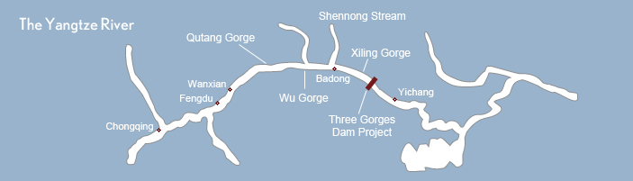 Yangtze River Cruise Ship Map