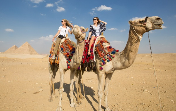 Middle-East-Egypt-Pyramid-Camel-Family-2