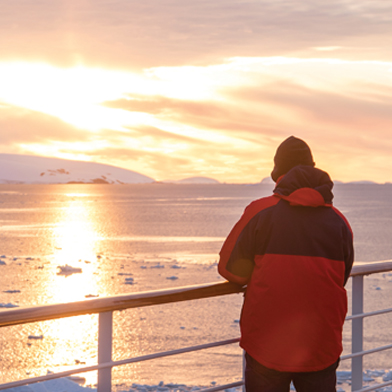 Antarctica Onboard Sunset 3up