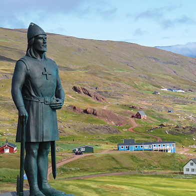 Iceland Greenland Cruise Statue