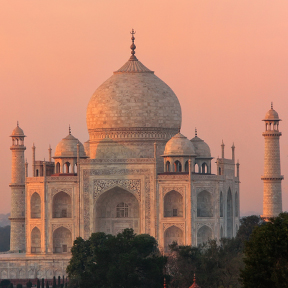 Asia India Taj Mahal Sunset