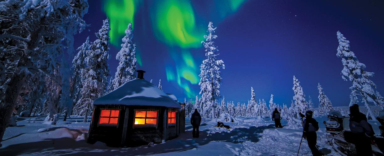 Europe Lapland Finland Saariselka Northern Lights Mh