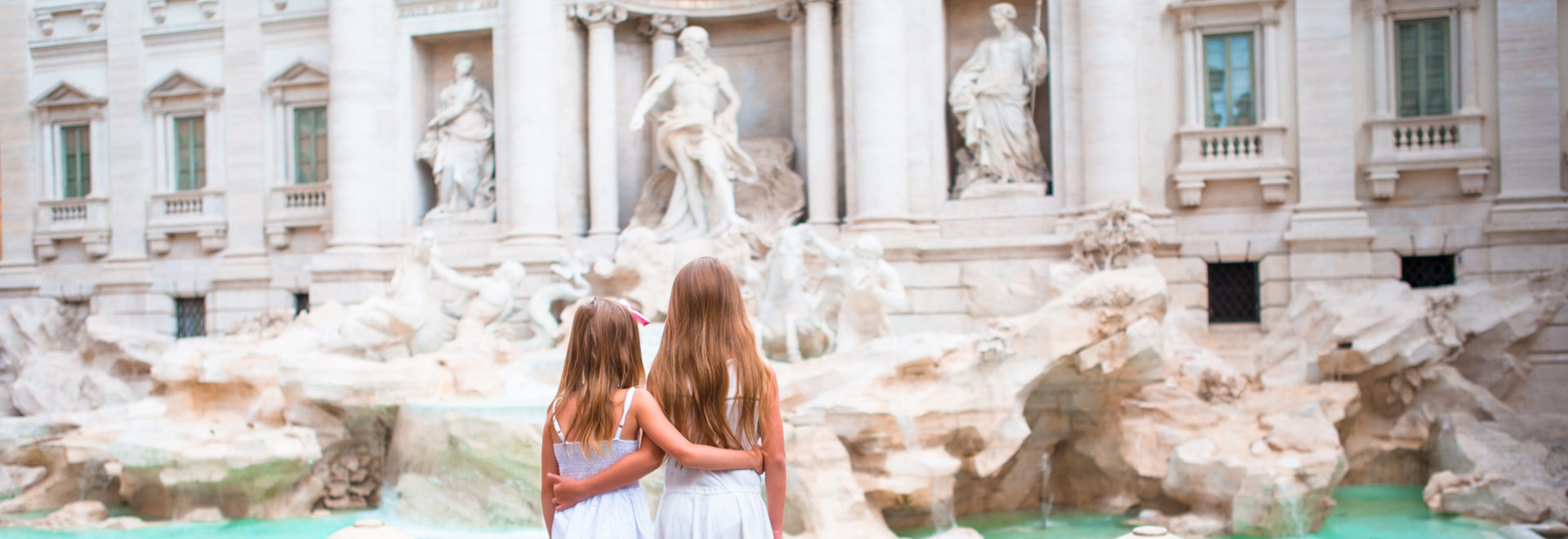 Europe Family Italy Rome Trevi Fountain MH