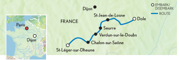 Itinerary map of