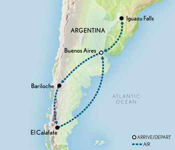 Tailor Made Argentina: Cultural & Natural Wonders Map