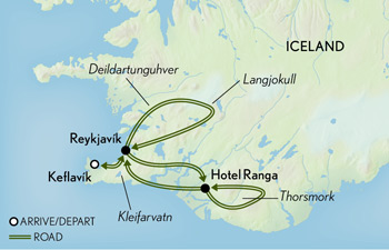 Tailor Made Iceland: Summer in the Land of Fire & Ice Map