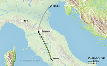 Tailor Made Italy: Venice to the Vatican Map