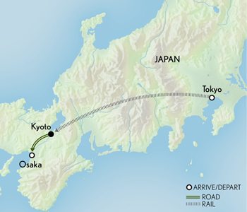 Tailor Made Japan: Iconic Tokyo & Kyoto Map