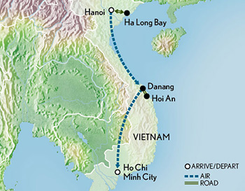 Tailor Made Vietnam: North to South Map