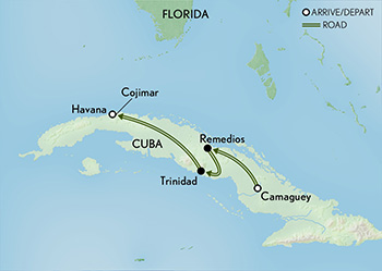 Cuba: People to People: An Island of Diversity Map