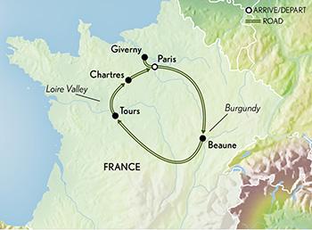 France Paris Burgundy Loire Chteaux
