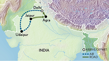 India: Holiday In Style Map