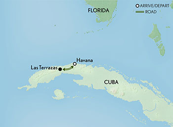Signature Cuba: A Private People to People Journey Map