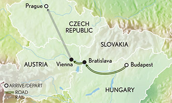 Signature Budapest, Vienna & Prague Map