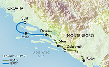 Signature Croatia Map