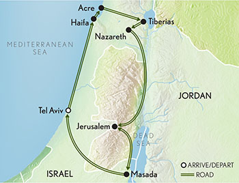 Signature Israel Map