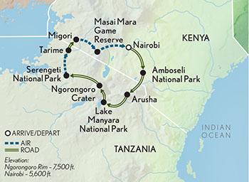 Signature Kenya & Tanzania | Abercrombie & Kent on kenya nairobi map, kenya africa map, kenya canada map, kenya tourist map, kenya travel maps, mali map, sri lanka map, african serengeti map, malawi map, east africa map, kenya somalia map, burundi map, kenya africa elephants, senegal map, kenya game reserve map, iran map, kenya mozambique map, mt. kilimanjaro map, hawaii kenya map, kenya islands map,