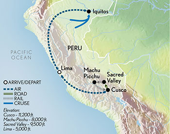 Signature Machu Picchu & the Amazon Map