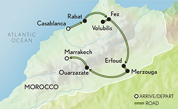 Signature Morocco Map