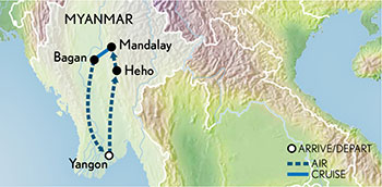 Signature Myanmar & the Irrawaddy Map