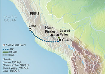 Signature Peru & Machu Picchu Map