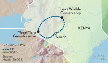 Tailor Made Kenya: The Masai Mara & Beyond Map