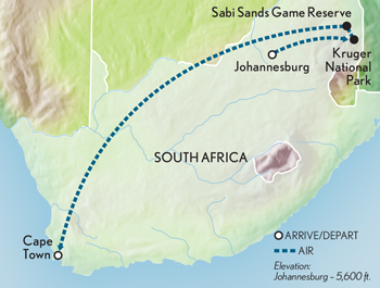 Tailor Made South Africa: Safari in Style Map