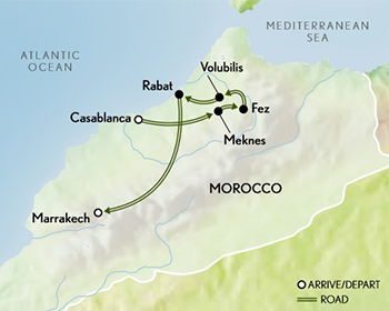 Morocco: Imperial Cities Map