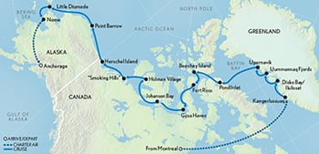 The Northwest Passage: From Greenland to the Bering Sea Map