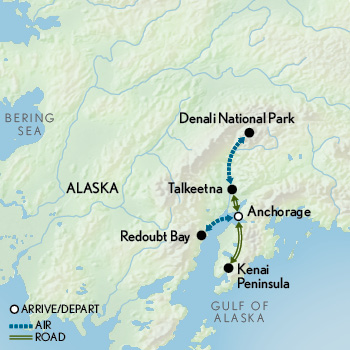 Tailor Made Family Alaska: Wild Frontiers Map