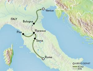 Itinerary map of Family Italy