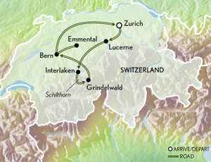Itinerary map of Family Switzerland