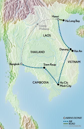 Images of Indochina & Angkor Wat Map