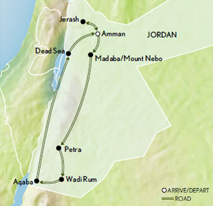 Itinerary map of Lawrence of Arabia