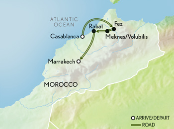 Morocco Magical Medinas Map