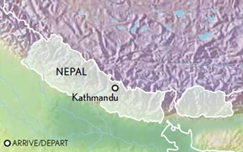 Itinerary map of Tailor Made Nepal: Kathmandu