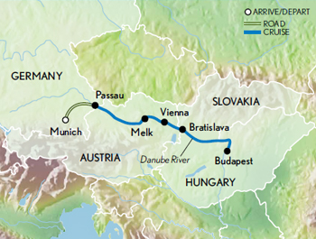 New Year's Along the Danube Map