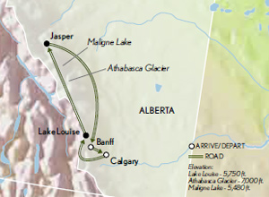 Calgary Canada Map Of North America.North America Canadian Rockies Abercrombie Kent