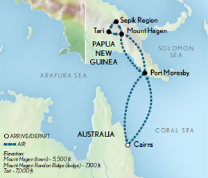Papua New Guinea & the Mount Hagen Sing Sing Festival Map