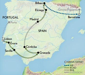 Spain & Portugal: A Journey Across Iberia Map