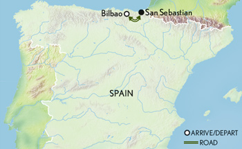 Spain Basque Country Map