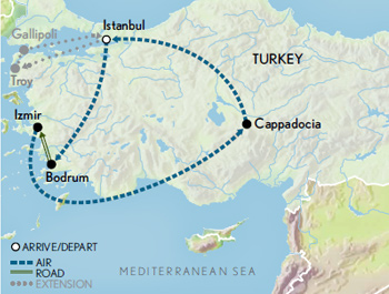 Turkey: A Journey Through History Map