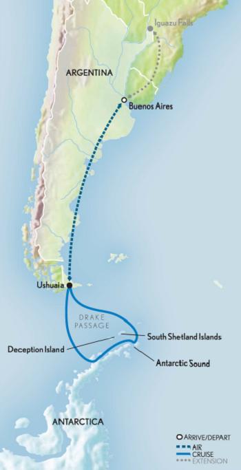 2019 Classic Antarctica Map