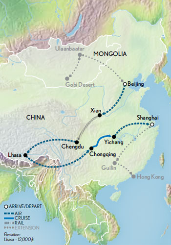 Across China Tibet and the Yantze