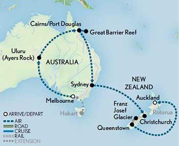Map Of Australia New Zealand And Tasmania.Australia New Zealand The Lands Down Under Abercrombie Kent