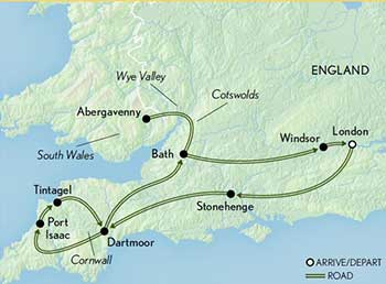Map Of England Cornwall.Britain Cornwall Wales The Cotswolds Abercrombie Kent