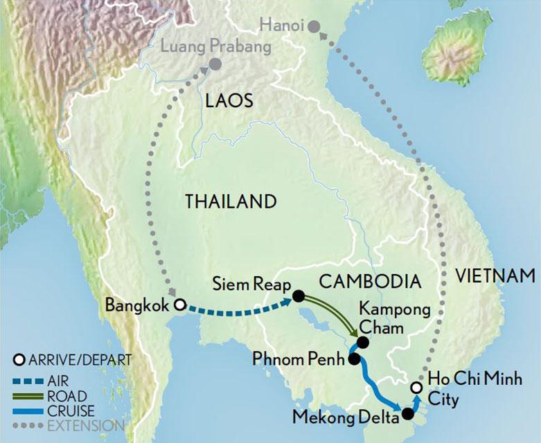 Cruising the Mekong Siam, Saigon and Angkor Wat