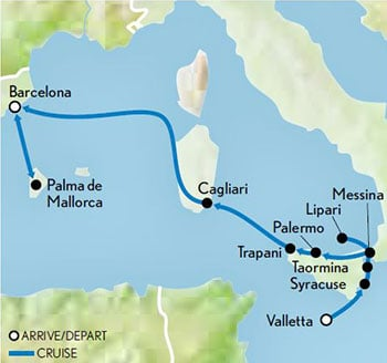 Sailing-the-Sea-Cloud-the-Mediterranean-Malta-to-Palma-de-Mallorca-Map-updated-2019
