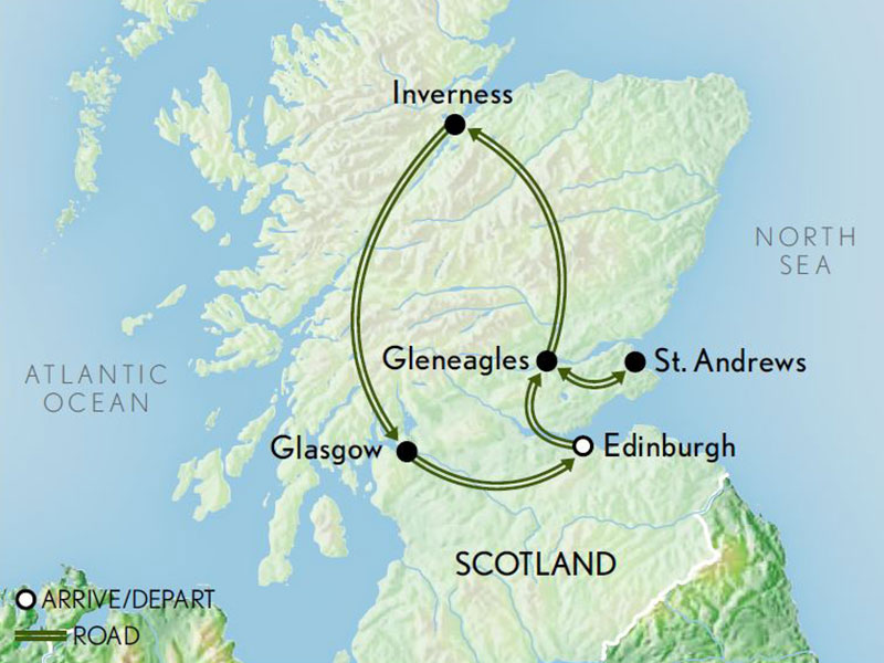 Scotland-Edinburgh-the-Highlands-Map-2019